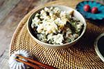 高山都の【みやれしぴ vol.48】季節感じる旬レシピ♪「山菜とツナの炊き込みご飯」