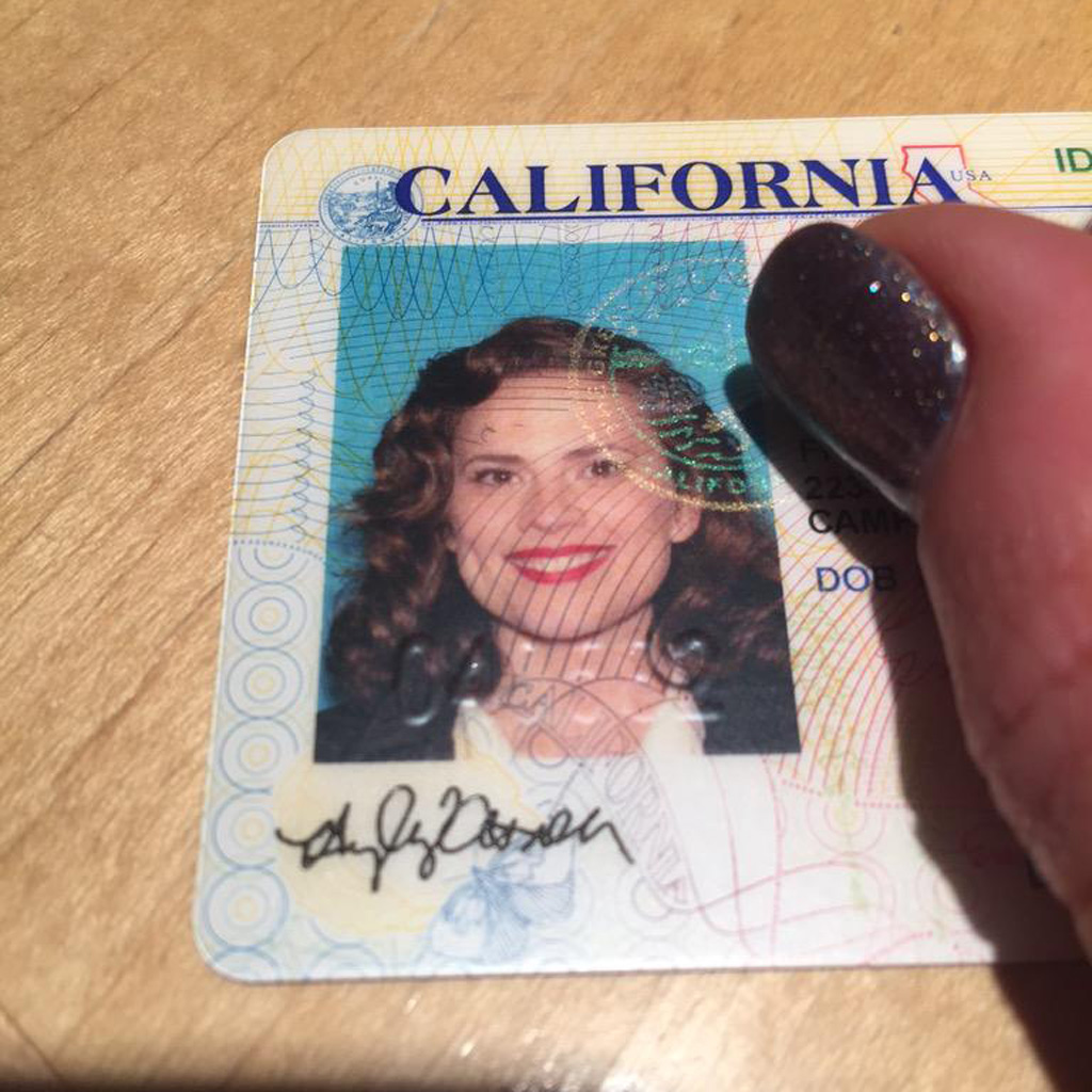 Hayley Atwell's driver's licence photo