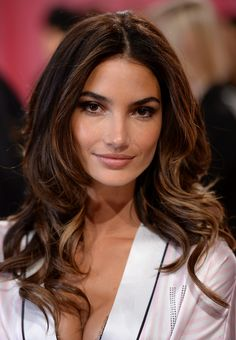 NEW YORK, NY - NOVEMBER 13:  Model Lily Aldridge poses at the 2013 Victoria's Secret Fashion Show hair and make-up room at Lexington Avenue Armory on November 13, 2013 in New York City.  (Photo by Dimitrios Kambouris/Getty Images for Victoria's Secret)