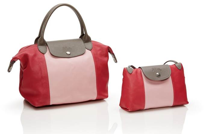 Le Pliage® Cuir Japan Limited S size top handle bag W25xH23xD16cm 74,000円 Mini shoulder bag W22xH14xD7cm 35,000円(いずれも税抜価格)